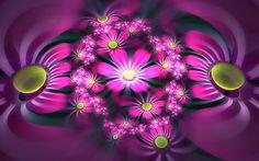 Fractalscape - Wonderful Fractal Art of Flowers Fairy Wallpaper, Lines Wallpaper, Background Hd Wallpaper, Flower Wallpaper, Wallpaper Backgrounds, Iphone Wallpaper, Beautiful Fairies, Beautiful Flowers, Purple Art