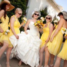 Yellow and gray wedding, Maggie Sottero Jenna dress