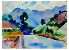 Blue California Hills by Erle Loran | The Collector's Eye | One Kings Lane