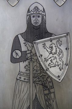 Large Robert the Bruce, King of the Scots, (old style) English Style, King Robert, Equestrian Statue, Lord, Medieval Armor, Effigy, Historian, Victorian Era, Arms