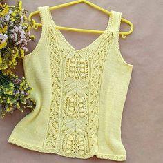 Sweater Knitting Patterns, Lace Knitting, Summer Knitting, Summer Tops, Knitwear, Knit Crochet, Clothes For Women, Womens Fashion, Style