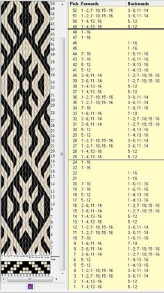 16 tarjetas, 2 colores, repite esquema cada 24 movimientos // sed_280a diseñado en GTT༺❁: