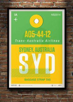 Flight Tag Prints Vol. 2 by Neil Stevens, via Behance