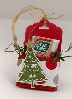 stampin up christmas craft fair ideas - Yahoo Image Search Results Christmas Treat Bags, Christmas Craft Fair, Christmas Paper Crafts, 3d Paper Crafts, Stampin Up Christmas, Paper Gifts, Christmas Projects, Holiday Crafts, Christmas Cards