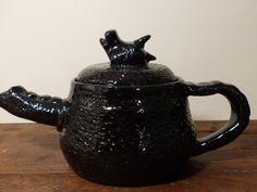 BLACK DRAGON TEAPOT-Handmade Dragon teapot - Fantasy Ceramics by GOLLYWOODBOULEVARD on Etsy