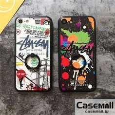 パロディ風 STUSSY iPhoneケース ペア iPhone7 iPhone7plusケース ステューシー アイフォン6sケース リング付き アイホン6s plus携帯カバー スタンド機能 可愛い カップル用