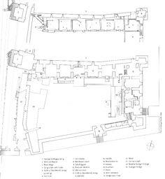 Plans RDC et R+1 du Musée Castelvecchio, Vérone Carlo Scarpa, Fountain, Entrance, Arch, Plans, Stairs, How To Plan, Museums, Public