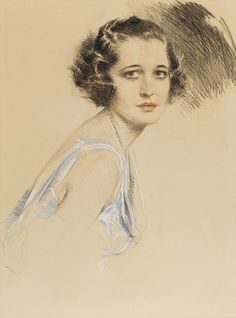 Portrait of a Young Woman - by Howard Chandler Christy