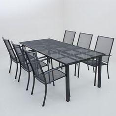Kettler Siero met Strekmetalen tafel - 220x100cm
