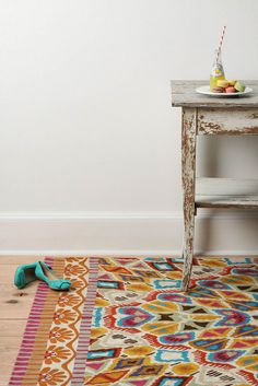 love this colorful rug from anthropologie