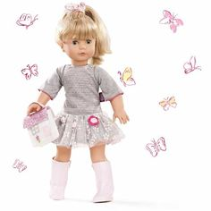 Κούκλα Jessica Precious Day Gotz 50 cm Gotz Dolls, School Parties, Doll Head, Crochet Flowers, Hair Ties, Party, Blonde Hair, Tulle, Sweaters