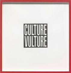 Barbara Kruger, Untitled (Culture Vulture), 2012 on Paddle8