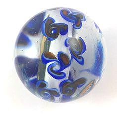 Jerry Garcia glass marble orb dead head art