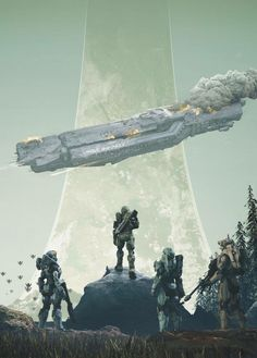 """ i-am-not-leaving-you-here: "" ""Halo infinite cover art anybody? "" Thats insane. Halo Game, Halo 3, Halo Ships, Odst Halo, Halo Armor, Halo Spartan, Halo Master Chief, Halo Reach, Spaceship Art"