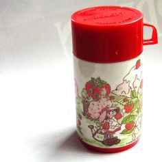 How cute! Vintage Strawberry Shortcake Thermos for Lunchbox
