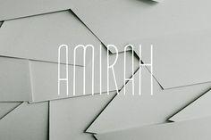 Amirah Display Typeface by Symufa on @creativemarket