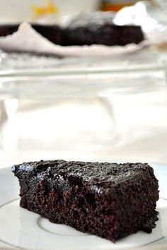 Yogurt Chocolate Cake - another opportunity to use Greek yogurt! So rich and moist!