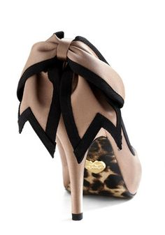 Betsey Johnson With My Peeps Heel  My favourite type of bow on a shoe is one that drapes over the heel. Leave it to Betsey!