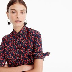 Perfect shirt in Liberty® Ros floral : Women new arrivals | J.Crew