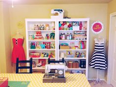 My new sewing / craft / office space! I love it!