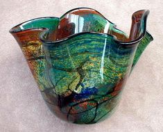 ... Wavy Forest Green Vase