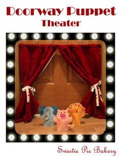 Doorway Puppet Show-Felt Hand Puppets Tutorial | Jessica Peck
