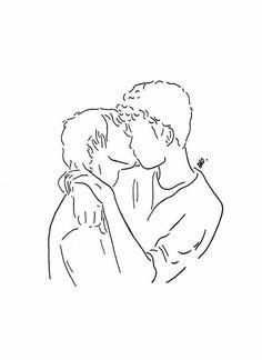 kiss outline art - outline kiss & outline kissing tattoo & outline kissing & outline kiss tattoo & outline of two people kissing tattoo & outline of people kissing & outline of two people kissing & kiss outline art Minimalist Drawing, Minimalist Art, Art Sketches, Art Drawings, Art Gay, Kissing Drawing, Art Du Croquis, Outline Art, Tattoo Outline