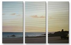 California Road 24 Metal Wall Art By Relja Penezic. This three panel metal art by artist Relja Penezic will enchant you and your guests! The hand sanded design on metal creates a brilliant three dimensional effect.