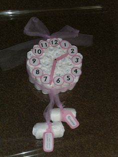 Geboorteklok leuk voor kraamkado...%0D%0Aaan de klepels kan een kaartje gehangen worden met naam, geboortedatum, gewicht e.d.%0D%0A