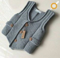 43 trendy knitting sweaters for boys baby vest Baby Knitting Patterns, Baby Boy Knitting, Knitting For Kids, Baby Patterns, Knit Vest, Baby Cardigan, Knitted Baby Clothes, Vest Pattern, Baby Sweaters