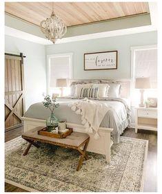 Master Bedroom Design, Dream Bedroom, Bedroom Wall, Romantic Master Bedroom, Farm Bedroom, Budget Bedroom, Pretty Bedroom, Interior Exterior, Interior Design
