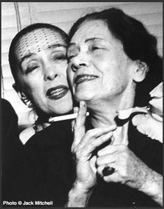Martha Graham and Mary Wigman, 1958. Photo © Jack Mitchell