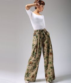 Hey, I found this really awesome Etsy listing at https://www.etsy.com/listing/48721720/wide-leg-maxi-print-linen-pants-ethnic