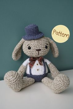 PATTERN  Mister Bunny crochet amigurumi toy by lilleliis on Etsy, $6,50