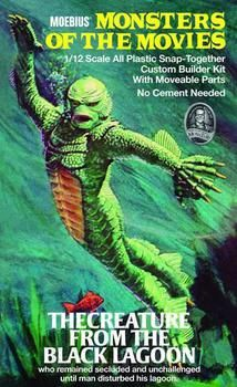 Universal Monsters Creature from the Black Lagoon Model Kit ... Horror Icons, Horror Movie Posters, Horror Art, Film Posters, Scary Movies, Old Movies, Vintage Movies, Comedy Movies, Vintage Art