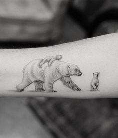 12 Tattoos, Mommy Tattoos, Mother Tattoos, Baby Tattoos, Family Tattoos, Cute Tattoos, Body Art Tattoos, Baby Bear Tattoo, Teddy Bear Tattoos