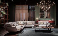 Cassina booth at IMM Cologne - Patricia Urquiola Paris Home, Patricia Urquiola, Beams, Home Furnishings, Design Trends, Sofa, Couches, Furniture Design, Interior Design