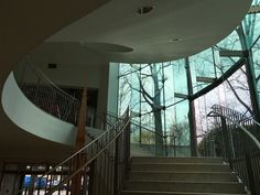 The entry staircase elegantly invites you upstairs to the galleries, shop, and restaurant