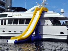 Yacht-Side Water Parks #waterslide #toys