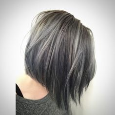 short #bob #grey #gray #grannyhair #color #hairstyle - Gray Color Trend aka #GrannyHairs - Gray color is not the color for old people anymore. A lot of women are switching to grey hair color shades and they no doubt look amazing. This is a really challeng