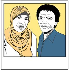 My Mother & Father  Adobe Ilutrator