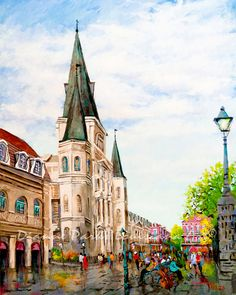 New Orleans Art, St Louis Cathedral, Impressionist Painting of Jackson Square, French Quarter, New O St Louis Cathedral, Louisiana Art, New Orleans Art, New Orleans French Quarter, Jackson Square, Impressionist Paintings, Decoration, Original Paintings, Original Artwork