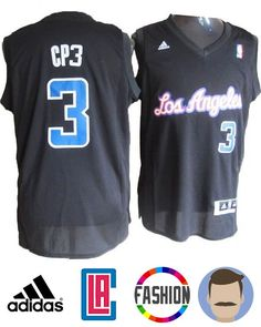 f465fc7da Grab this awesome Men s Adidas Los Angeles Clippers  3 Chris Paul Black  Nickname Swingman Jersey