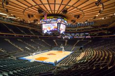 Hank Ratner, Vice-Chairman, CEO & President of Madison Square Garden, provides a first look at the iconic arena, which features a state-of-the-art scoreboard and bridges surrounding the Garden. Description from investorshub.advfn.com. I searched for this on bing.com/images