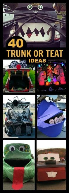 Trunk or Treat Ideas for Halloween - From Halloween Ideas - how to decorate your car for halloween