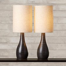 "Aspinwall 27.5"" H Table Lamp with Drum Shade (Set of 2)"