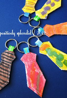 Necktie Key Ring for Dad - Great Idea for Father's Day.