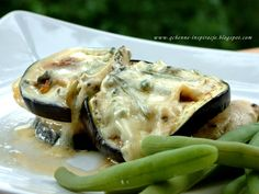 Qchenne-Inspiracje! FIT blog o zdrowym stylu życia i zdrowym odżywianiu. Kaloryczność potraw. : Soczysty filet z kurczaka z bakłażanem i serem blue