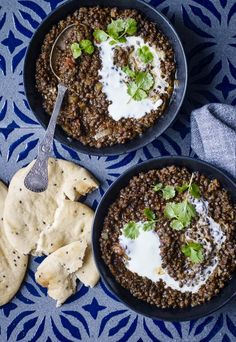 Dahl m belugalinser Dhal, Dinner Is Served, Garam Masala, Vegetable Dishes, Palak Paneer, Vegan Vegetarian, Acai Bowl, A Food, Treats
