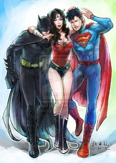 Wonder Woman, Batman, Superman